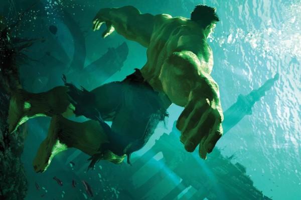 El increíble Hulk bajo el agua