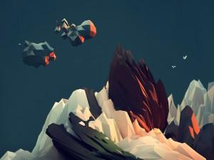 Escena de un paisaje rocoso