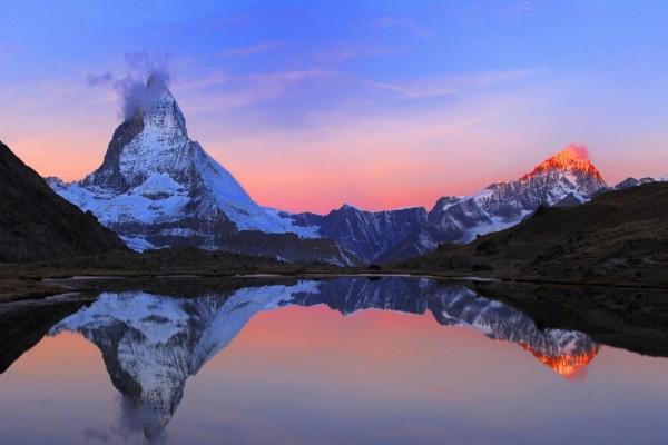 El monte Cervino visto al amanecer