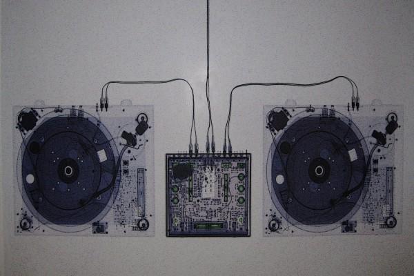 Rayos x en un aparato de música