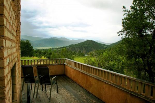 Terraza con vista a las montañas