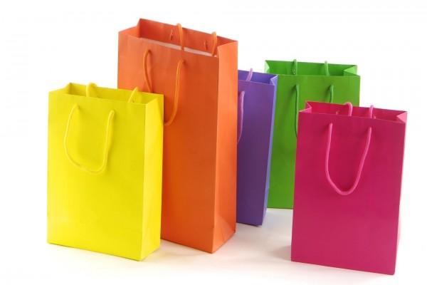 Bolsas de la compra coloridas