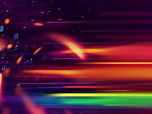 Imagen con destellos de colores