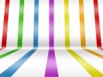 Tiras de colores en un fondo blanco