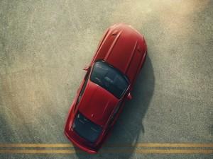 Postal: Mustang en un parking