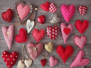 Postal: Románticos corazones
