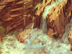 Postal: Cascada poligonal