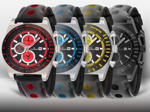 Postal: Coloridos relojes Jack Pierre