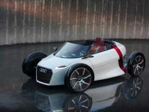 Postal: Un Audi Urban Concept blanco