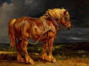Hermosa pintura de un caballo