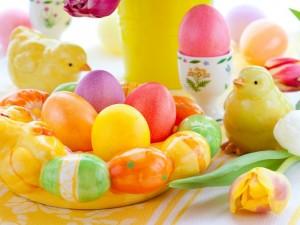 Tradicionales huevos de Pascua