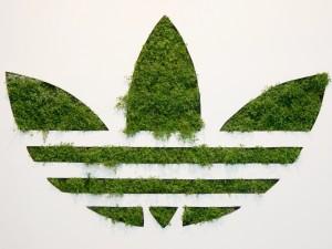 Postal: Logotipo verde de Adidas