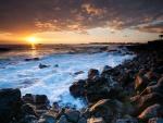 Puesta de sol en Hawái