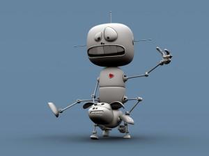 Postal: Robots divertidos