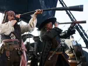 Postal: Escena de Piratas del Caribe