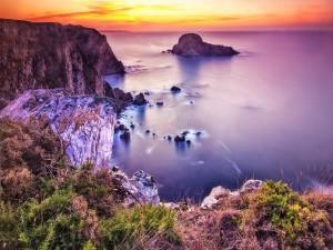 Postal: Un bonito cielo sobre el mar