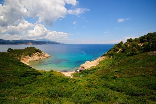 Costa verde y el mar