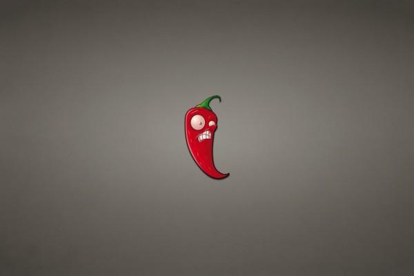 Un chile rojo muy picante