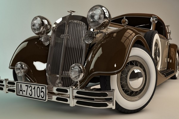Un elegante coche clásico