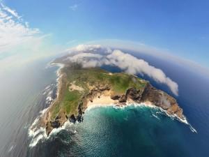Postal: Isla vista desde el cielo