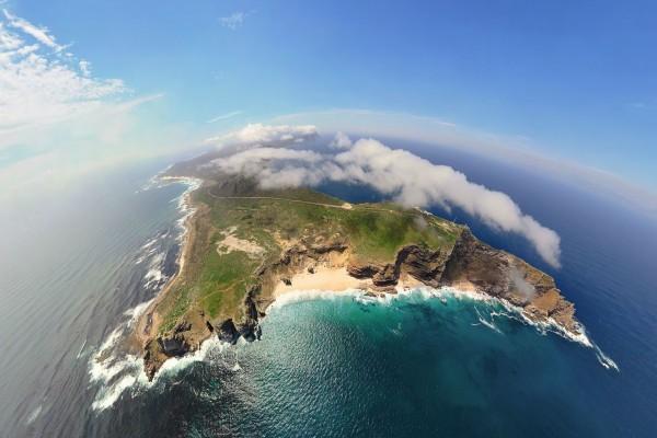 Isla vista desde el cielo
