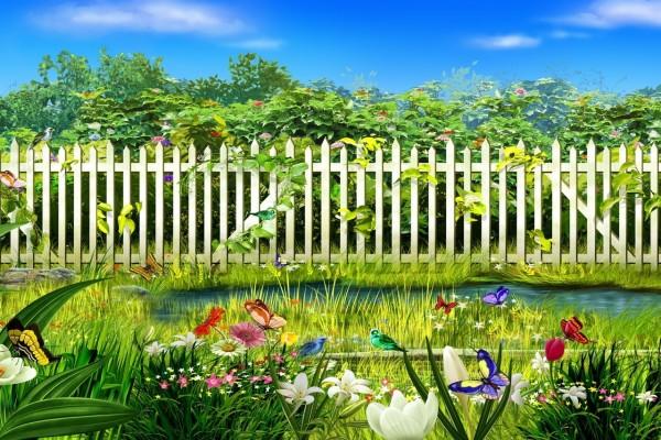 Jardín en primavera