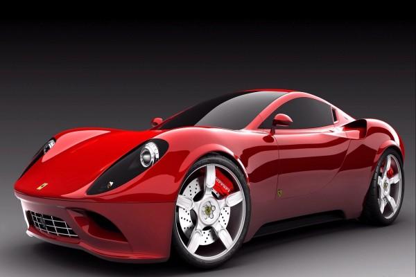 Un bonito Ferrari rojo