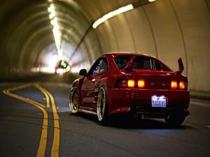 Postal: Toyota MR2 SW20 en un túnel