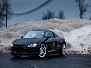 Postal: Audi R8 de color negro