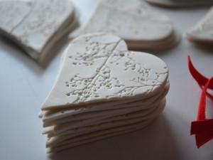 Bonitos corazones blancos