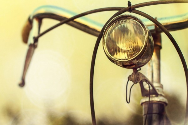 Manillar de una antigua bicicleta