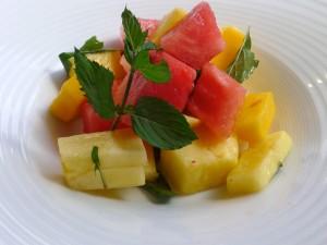 Ensalada de frutas con menta