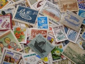 Colección de sellos postales