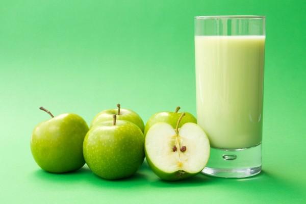 Zumo de manzana verde