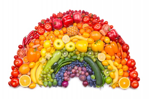 Arcoíris de frutas y verduras