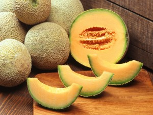 Rodajas de melón naranja