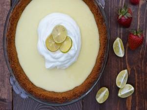 Una refrescante tarta de limón