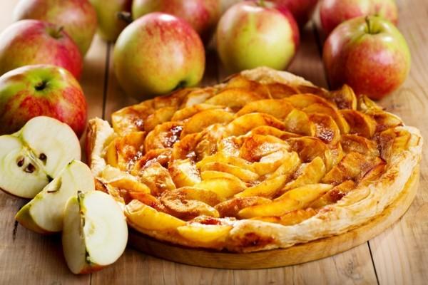 Tarta de hojaldre y manzana