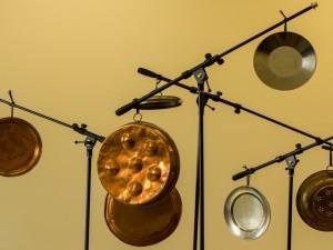 Postal: Instrumentos musicales de percusión