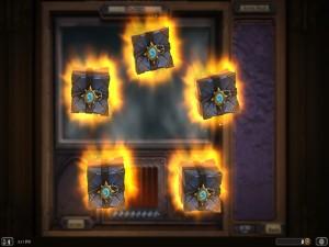 Cajas con premios tras ganar en el modo Arena (Hearthstone: Heroes of Warcraft)