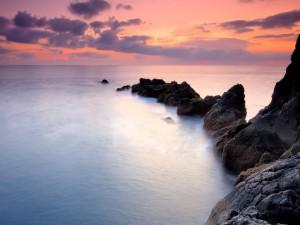 Postal: Un hermoso cielo sobre el mar