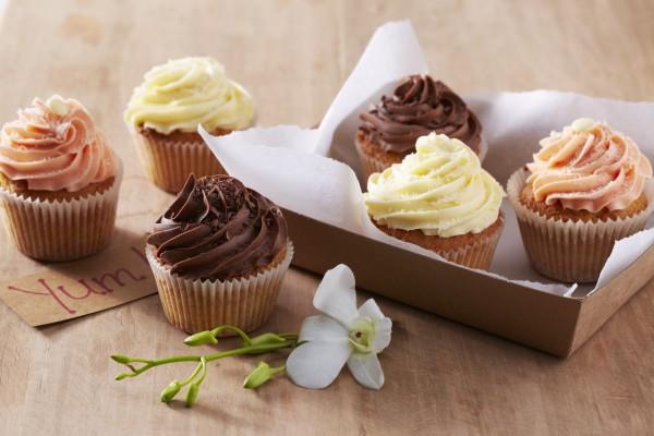 Cupcakes con cremas de diferente sabor