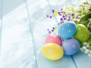 Postal: Decoración para el día de Pascua