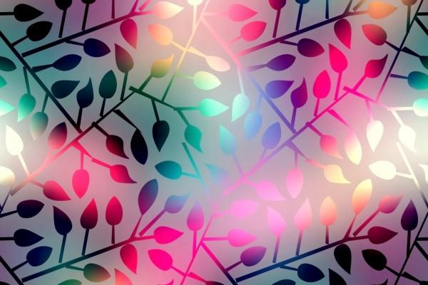 Ramas con pequeñas hojas coloridas