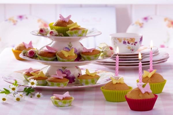 Magdalenas primaverales para celebrar un cumpleaños
