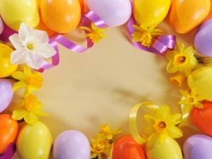 Postal: Elementos decorativos para el día de Pascua