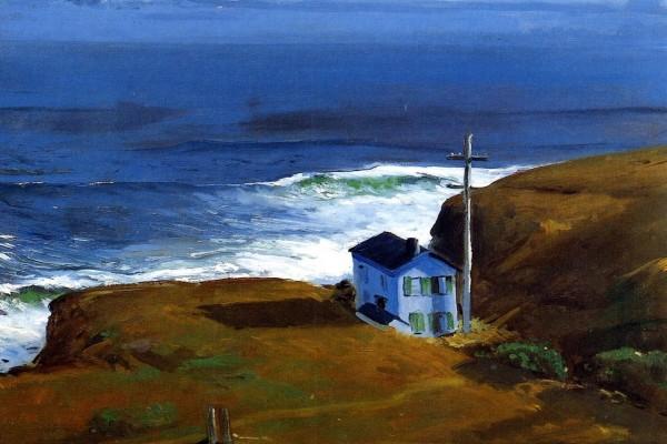 Shore House (Casa en la costa), pintura de George Bellows