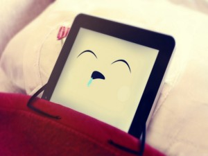 Postal: iPad durmiendo