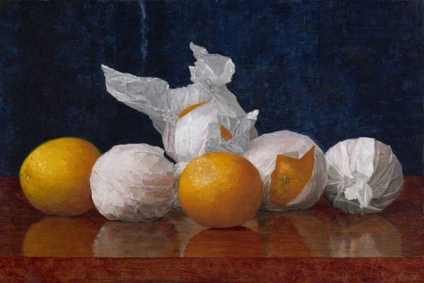 Wrapped Oranges, obra del pintor William J. McCloskey