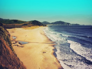 Postal: Una playa virgen